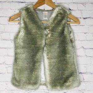 Gymboree Vest Faux Fur Size M (7-8) Girls Gray